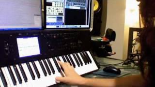 Keyboard shred solo tutorial (Korg M50)