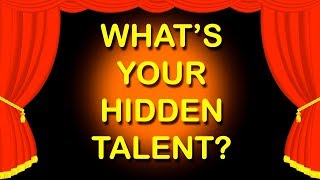what is your hidden talent? personality test mister test