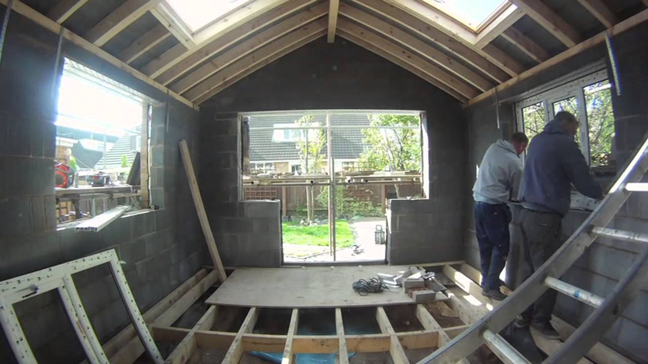 Timelapse  Replacing an old conservatory with a shiny new