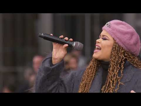 "Andra Day Performs ""Rise Up"" Live At Hudson Yards"