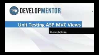 Unit Testing ASP.MVC Views ScreenCast
