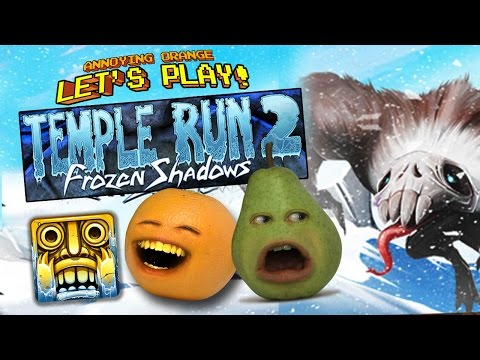 Annoying Orange and Pear - TEMPLE RUN 2: FROZEN SHADOWS!