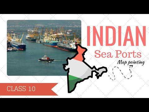 Indian Sea Ports Map Pointing in 3 Minutes || Class 10 Geography