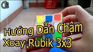 Hướng Dẫn Xoay Rubik 3x3 | Xoay Chậm | Phần 1| Chữ Thập & Tầng 1