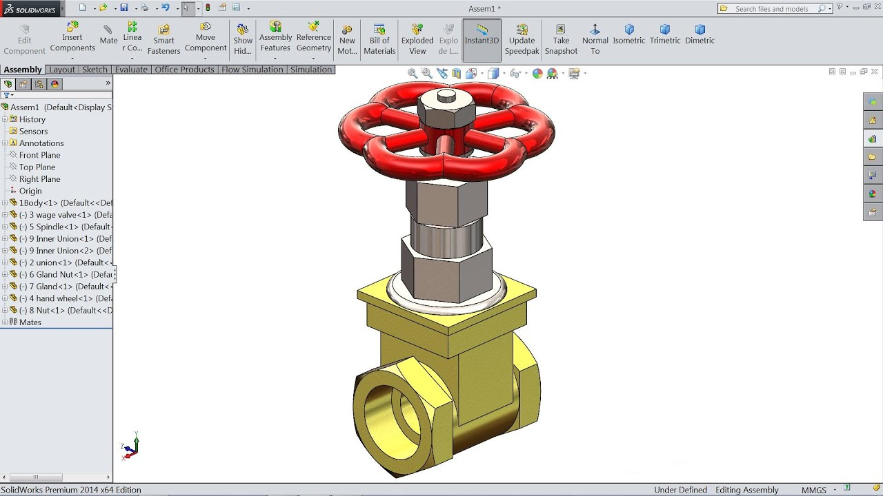 Solidworks Tutorial Design And Assembly Of Gate Valve In