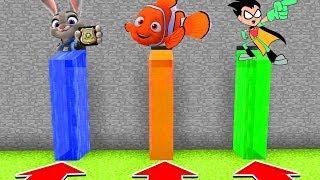 Minecraft : Do Not CHOOSE THE WRONG WATERFALL! (Zootopia,Nemo,TeenTitansGO) (PS4/XboxOne/PE/MCPE)