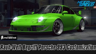 Need For Speed No Limits [iPhone 6S]: Rauh-Welt Begriff Porsche 911 (993) Carrera Customization