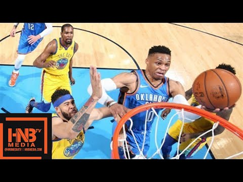 Golden State Warriors vs Oklahoma City Thunder Full Game Highlights / April 3 / 2017-18 NBA Season
