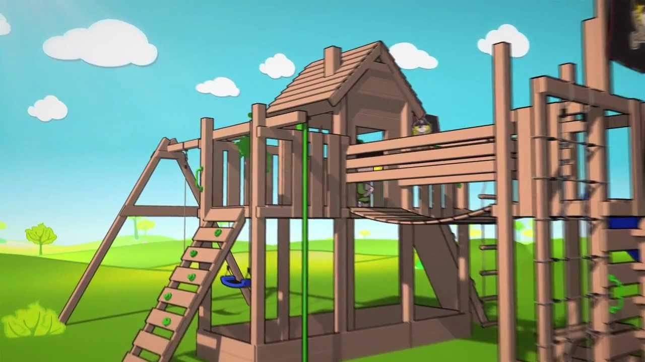 Klettergerüst Wickey : Spielturm wickey pirat video youtube