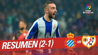 Resumen de RCD Espanyol vs Rayo Vallecano (2-1)