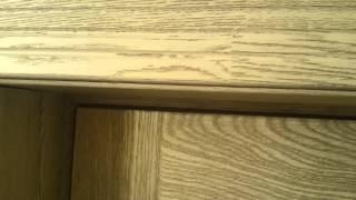 видео Межкомнатная дверь из натурального дерева