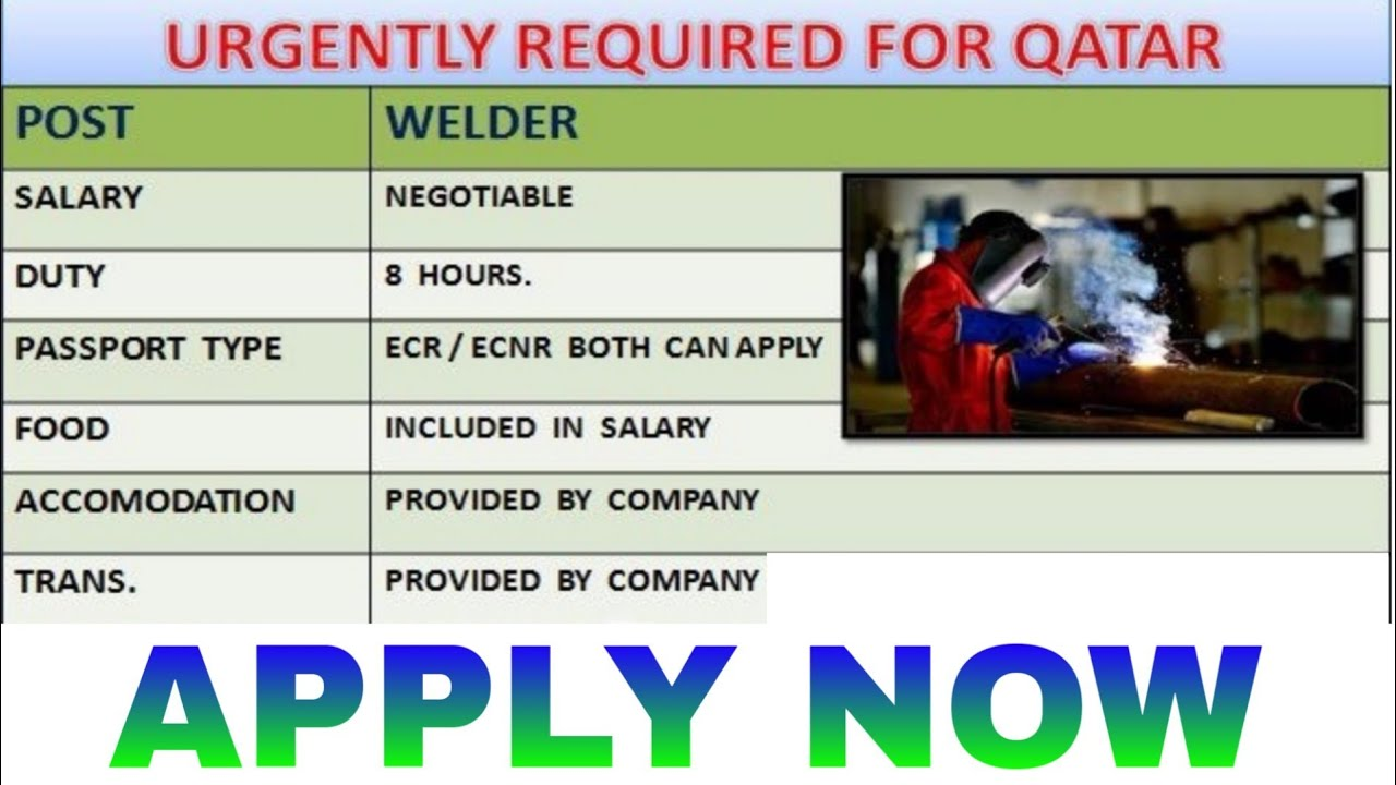 Job in Qatar | welder job Qatar | employment visa for Qatar | Qatar vacancy  2018 | Qatarjobforindian