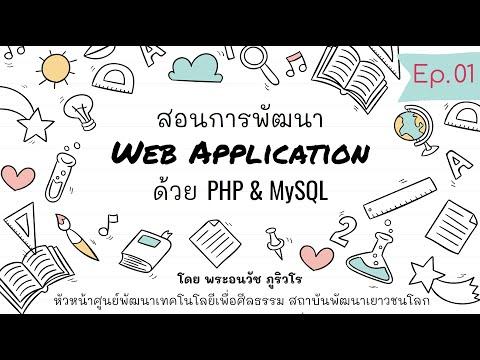 Web Application ภาพรวม   สร้างเว็บด้วย PHP & MySQL แบบง่ายๆ เน้นความเข้าใจ สไตล์ลพ.ภูริ - Ep.01