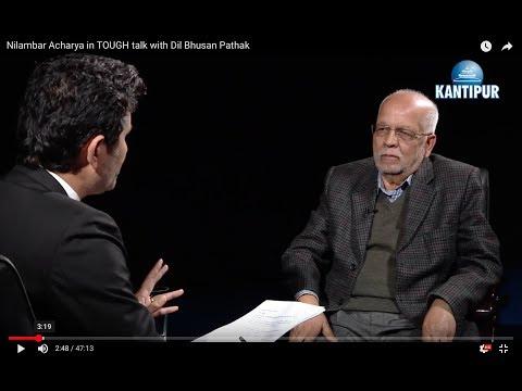 Nilambar Acharya in TOUGH talk with Dil Bhusan Pathak