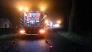 *Mist* Oefening brandweer Norg in Westervelde