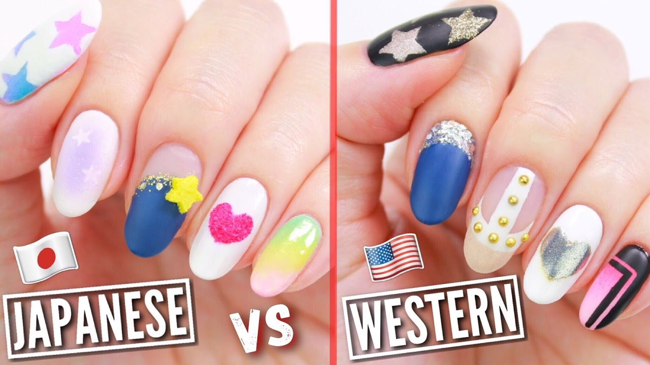Japanese VS American Nail Art! - YouTube