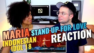 Maria - Stand Up For Love | Destiny's Child | Indonesian Idol 2018 | REACTION