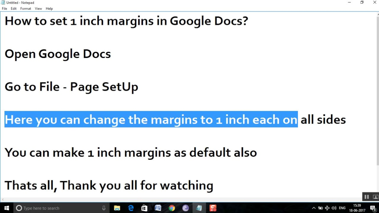 How To Set 1 Inch Margins In Google Docs?  One Inch Margins