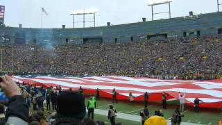 Packers vs Cowboys - National Anthem and Jet Flyover at Lambeau Field
