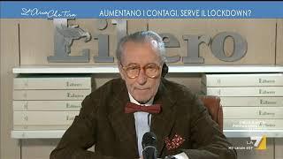 """Vittorio feltri (direttore di libero): """"fermare tutto vuol dire far morire fame la gente. scelta è o virus, tertium non datu..."""