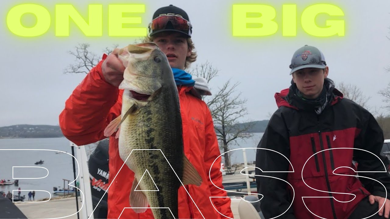 Kansas Bass Nation High School Division weigh in on Table Rock Lake in Branson Missouri 03/14/2021