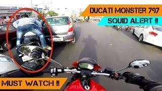 DUCATI MONSTER 797 | SQUID Crash Alert | INSTANT KARMA !