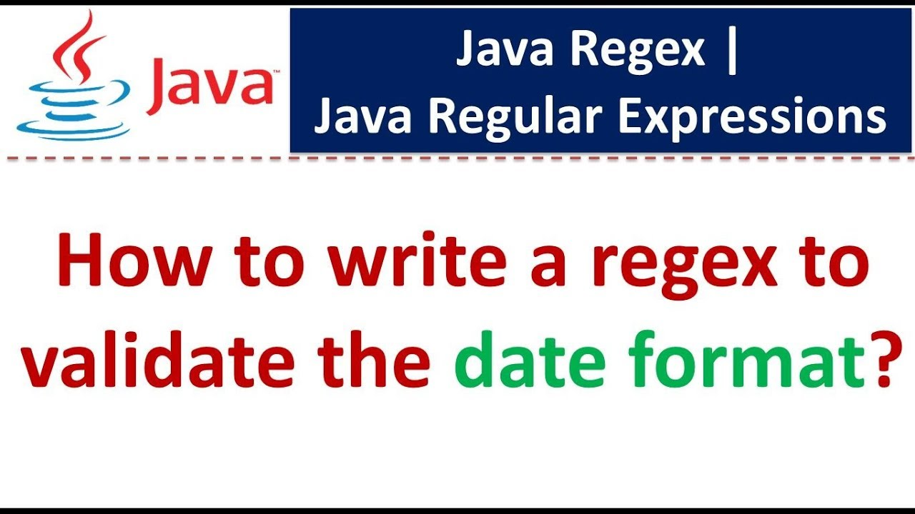 Regular expressions for validating date