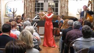 "Mimi Stillman plays Mozart ""Concerto in D"" Allegro Aperto, with Anthony Newman and Bedford Ensemble"