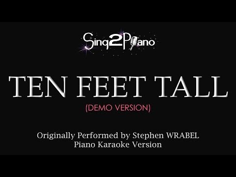 Ten Feet Tall (Piano Karaoke Demo) Wrabel & Afrojack