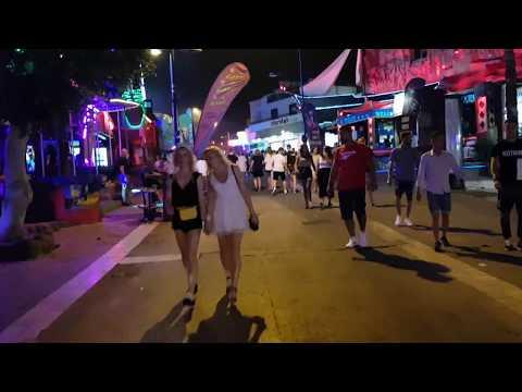 Кипр, Айя Напа, ночная жизнь, улица баров и клубов. Cyprus, Agia Napa, Night Life, Club Street