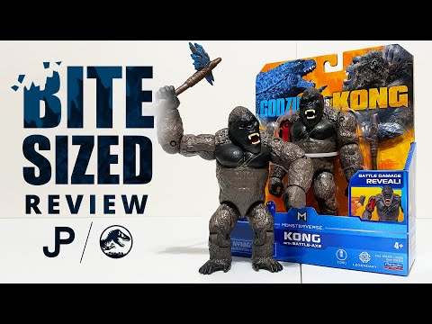 NEW Godzilla vs. Kong Toy Review - Kong with Battle-Axe by Playmates Toys / collectjurassic.com
