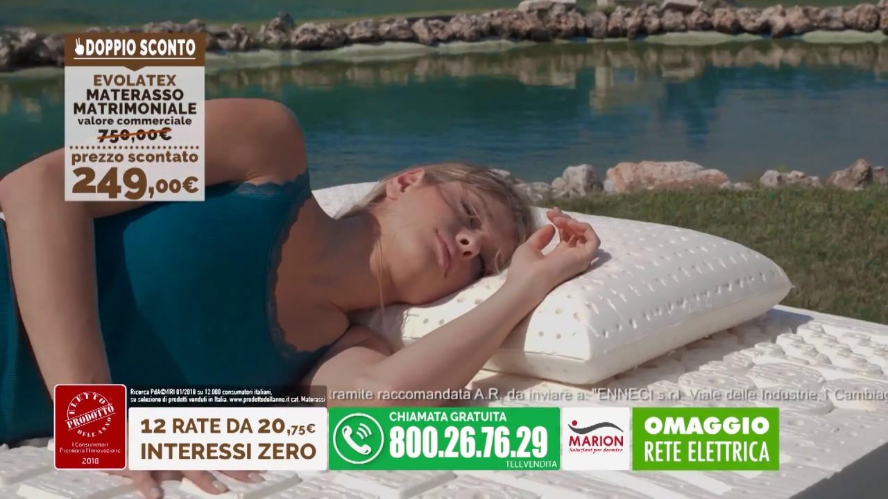 OFFERTA DOPPIO SCONTO MATERASSO MATRIMONIALE EVOLATEX  RETE ELETTRICA EMOTUS A 20 AL MESE