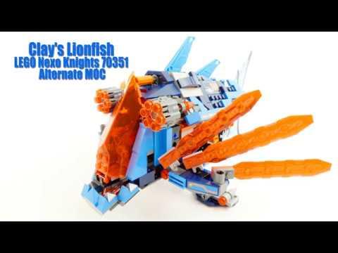Clay's Lionfish LEGO Nexo Knights 70351 Alternate MOC (4K)