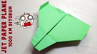 1000 Km Uçan Kağıt Uçak Modeli