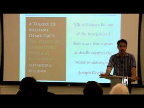 Alex Kirshner discusses democracy in Egypt