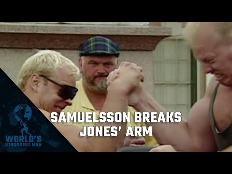 The World's Strongest Man Classics 1995: Samuelsson breaks Jones' arm!