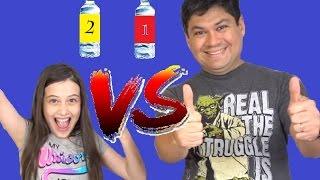 DESAFIO DA GARRAFA - Julia Silva e Papai Silva