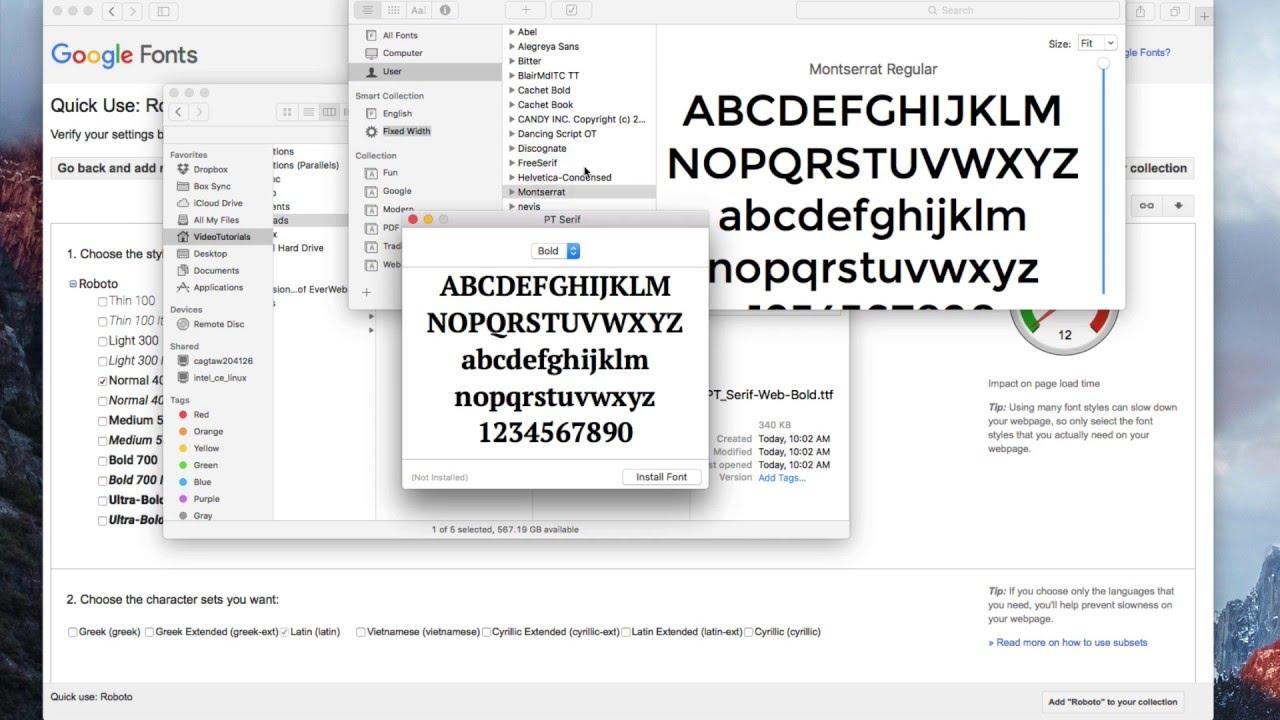 Google Fonts - Using Google Fonts in EverWeb