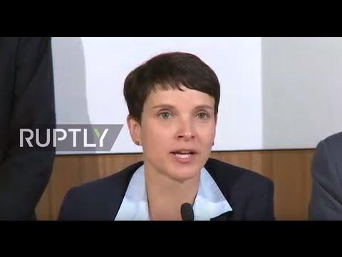 LIVE: AfD leader Petry comments on gains in Mecklenburg-Vorpommern