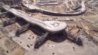 بالفيديو.. مراحل تطور مجمع مطار أبوظبي الجديد