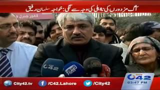 Provincial Health Minister Khawaja Salman Rafique media talks