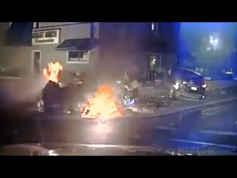 Dash cam captures fiery crash after police pursuit in Wis.