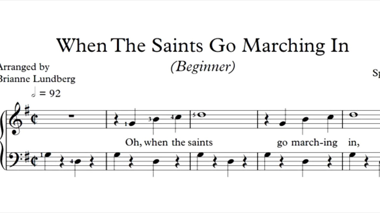 When the saints go marching in piano sheet music youtube when the saints go marching in piano sheet music hexwebz Choice Image