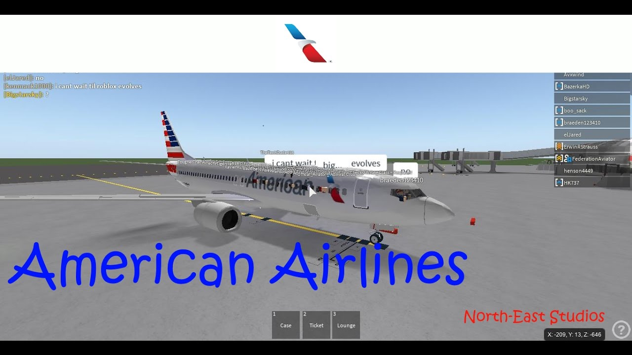 Roblox American Airlines Flight Ll Exploited Youtube