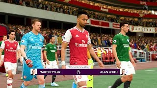 FIFA 20 | Arsenal vs Brighton Premier League 2019 Gameplay