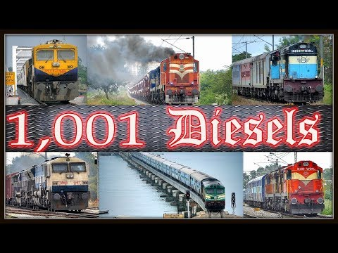 1001 ONE THOUSAND AND ONE DIESEL LOCOMOTIVES | Indian Railways