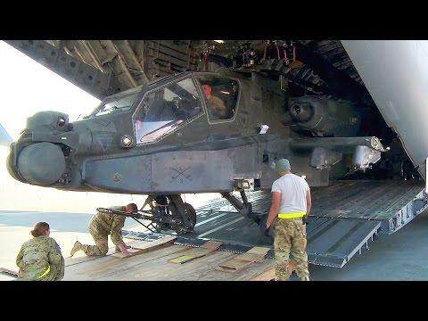 Unloading AH-64 Apache