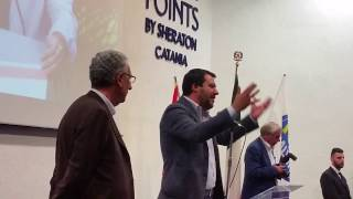 Matteo Salvini allo Sheraton di Catania