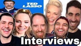 TED LASSO CAST:coy on SEASON 2 'spoilers', favorite Lasso lessons & Jason Sudeikis a 'creepy wizard'