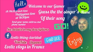 Games for today Guess the singers name of their song !